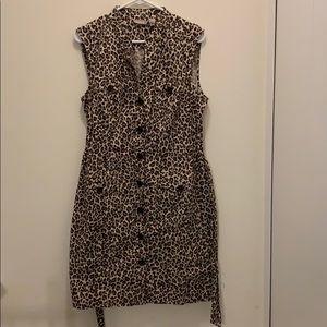Chico's leopard print dress (Chico's 1.5 size)